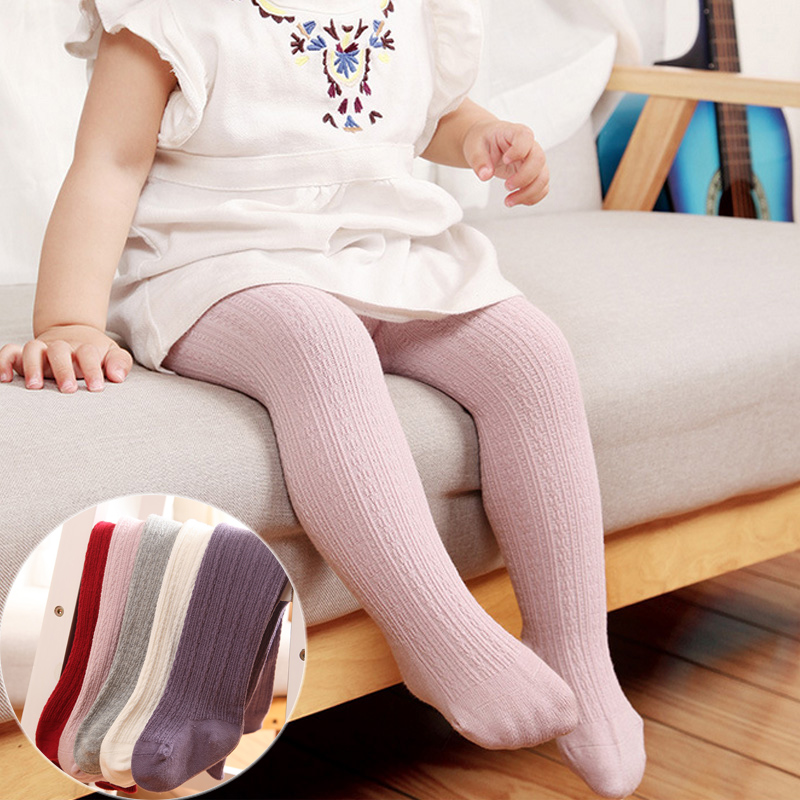 New Baby Girl Tights Newborn Baby Boys Pantyhose Solid Color Toddler Infant Knitted Stockings Cotton Baby Meisje Tights