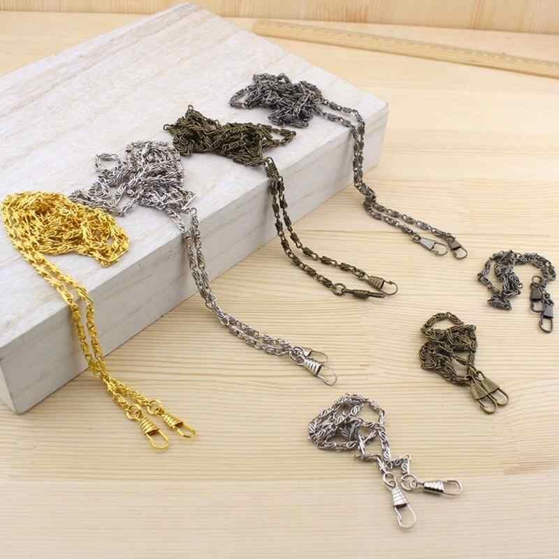 10 шт. 120 см прочный и долговечный Винтаж металла плечевой ремень-цепочка кошелек DIY ручной швейной мешок часть шнуры кошелек ручка LW800