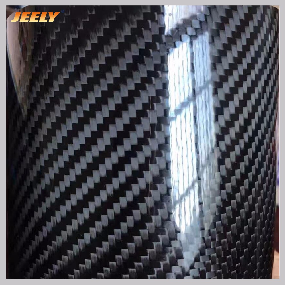Jeely Plain/Twill Epoxy Coating 3K 200gsm 42% Prepreg carbon fiber fabric for sale <font><b>20</b></font>㎡/roll image