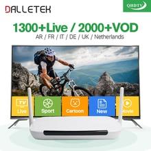 Android Smart TV Box mit 1 Jahr kostenlos Qhdtv Iptv Kanäle Arabisch Europa Italien Frankreich Canal Plus Französisch Set Top Box Media Player