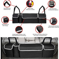 2 in 1 Trunk Back Seat Organizer Space Saving High Capacity Auto Trunk Storage Bag for Any Car SUV Car Styling