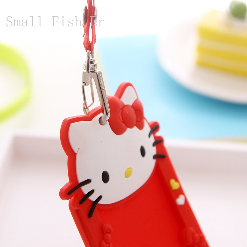 10pcslot cute business card case hello kitty minions lanyard id 10pcslot cute business card case hello kitty minions lanyard id cards holder bus card sets student card holder in badge holder accessories from office reheart