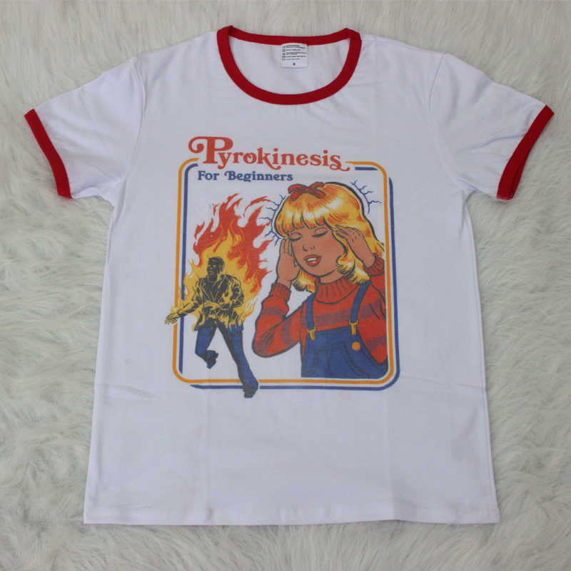 cb3d19f71c9 Hillbilly Cute Graphic Tee Pyrokinesis for Beginners Street Wear ...