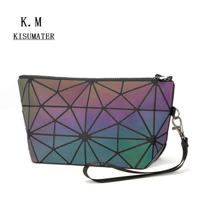 2018 HOT Luminous bag mini Make-up handbag Printed Small Clutch Women's Geometry Purse Free Shipping