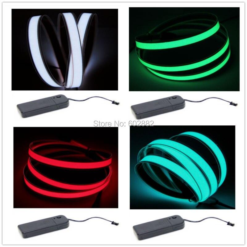 Led Strip,,1 Meter EL Strip, EL Tape (7 Colors Available) + 3V Cell Box Inverter