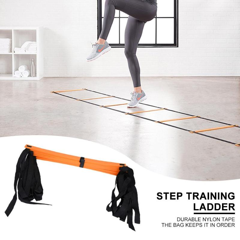 2019 6/7/8/9/12/14 Rung Nylon Straps Training Ladders Agility Speed Stairs Sport Fitness Training Equipment Body Exerciser