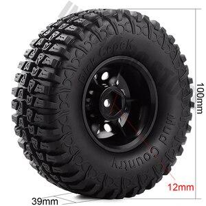Image 2 - Ensemble pneus et jantes en caoutchouc de 1.9 pouces, pour roue en plastique 1:10 RC, chenille axiale, SCX10 90046 AXI03007 Tamiya CC01 D90