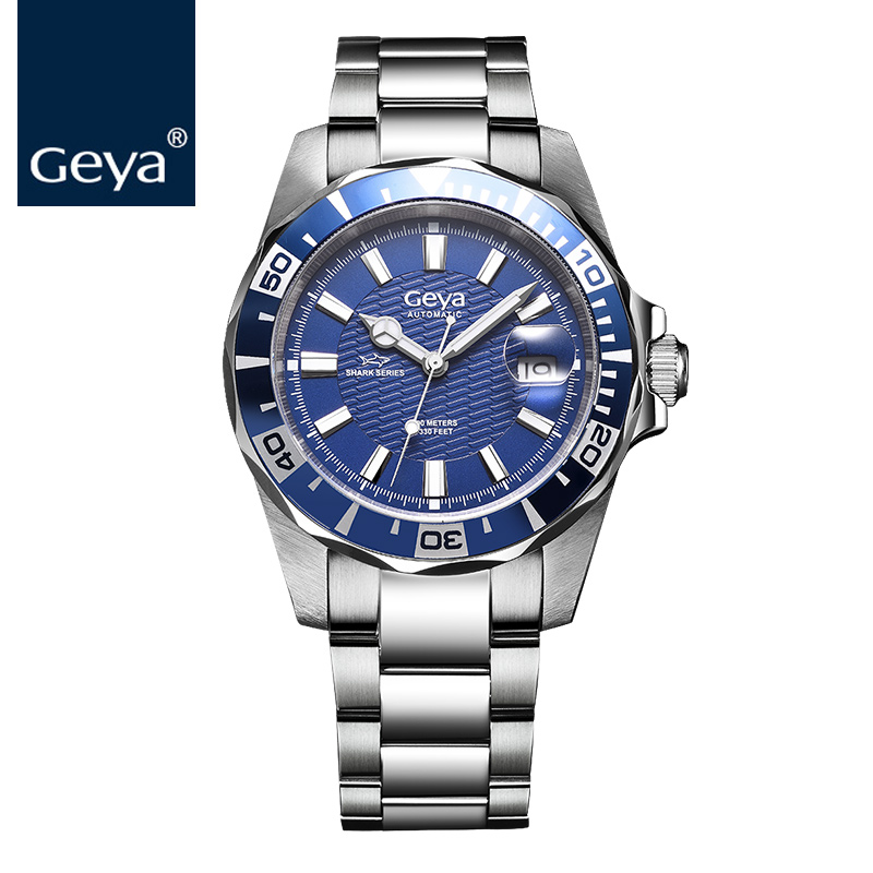 e96b8919132 Geya 2018 Hot Sale Mens Watches Luxury Brand Sapphire Diver 100M Automatic  Mechanical Male Sports Watch Luminous RLX Men s Watch