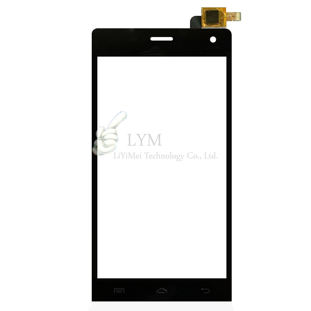Black TP for Highscreen Verge 5 0 Touch Screen Digitizer Glass Panel No LCD Display Replacement