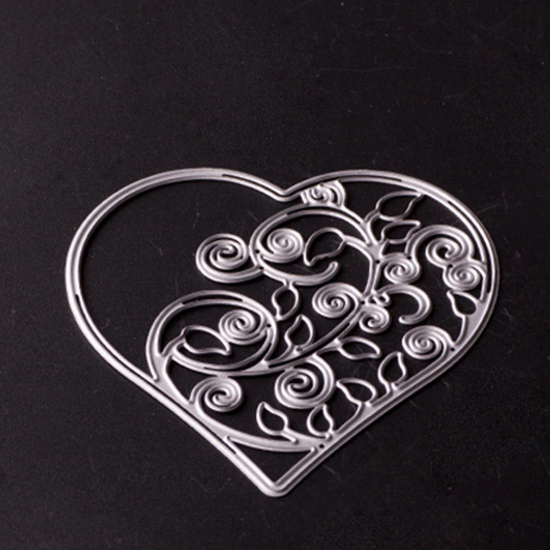 Yüksek kaliteli kalp şablonlar Metal kesme ölür DIY Scrapbooking dekoratif kağıt şablon kesim