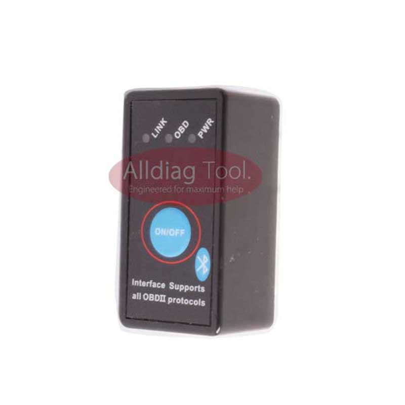 Alldiagtool Online Store NEW Super Mini ELM327 Bluetooth OBD-II OBD Can with Power Switch for all OBD-II protocols support  Android system