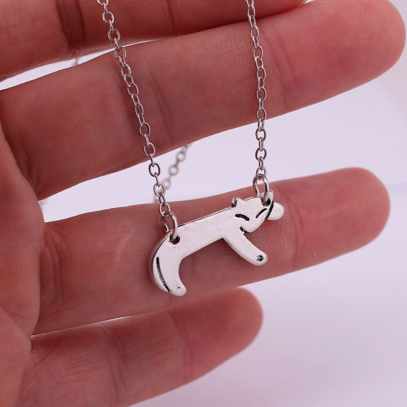 hzew pet cat pendant neckalce liite kitty cat necklaces cat lover gift in Chain Necklaces from Jewelry Accessories