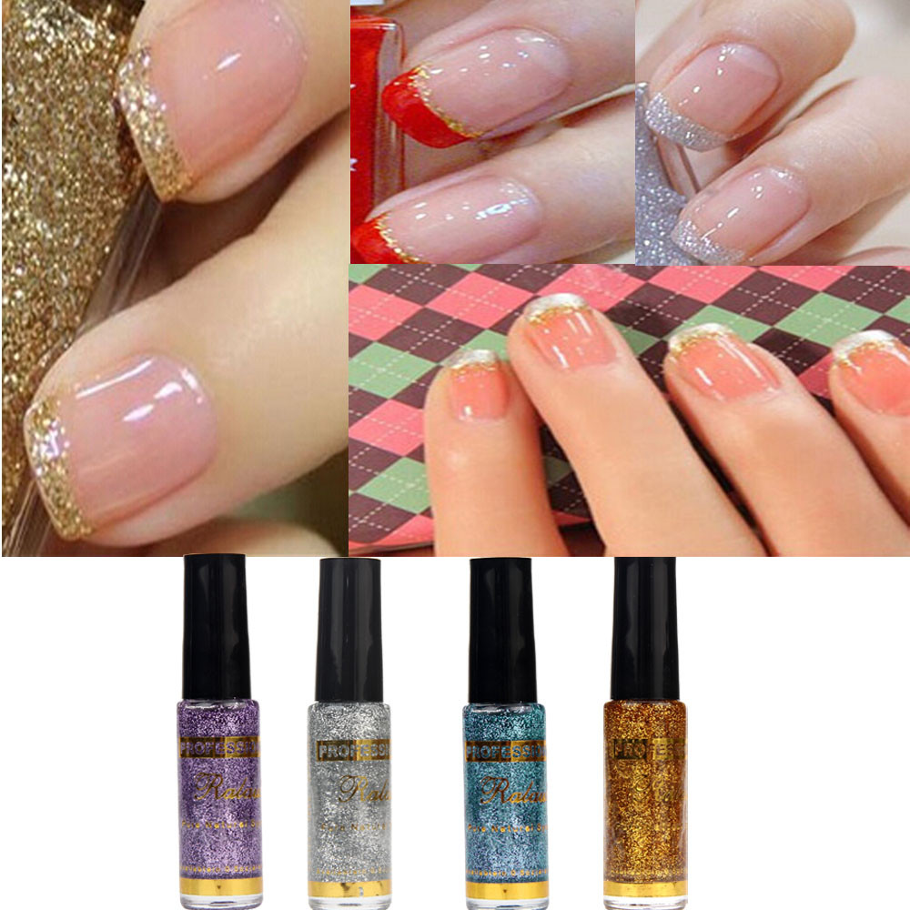 Nail Polish Pull Pen 3D Glitter Sequin Pen Nail Polish Painting The Brush Head Is Fine And Easy To Use Makeup Tools #H