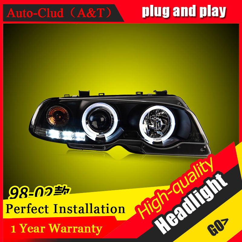 Auto Clud Car Styling For BMW 3 series E46 headlights For E46 head lamp led DRL front Bi-Xenon Lens Double Beam HID KIT цена