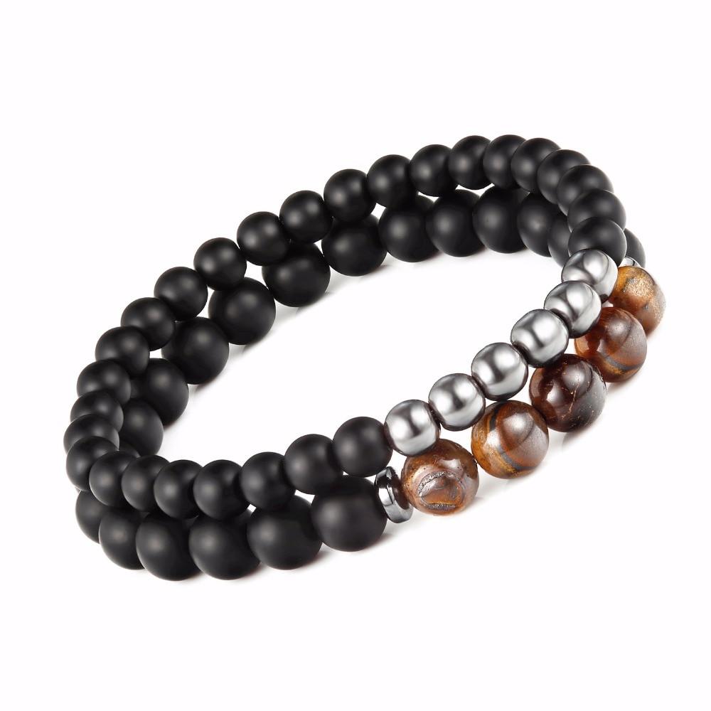 LKO New Men Woman Bead Bracelet Beaded Black Mantra Prayer Beads Buddha Bracelet for Women and Men free shipping
