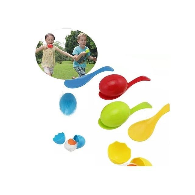 Дети Баланс пластиковые ложки заботятся яйцо раннее образование открытый интерактивное обучение игры и игрушки для детей 4 шт./компл.