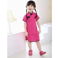 Chinese Dress Baby Girl Clothes Summer Style Infantis QIPAO Cheongsam Cotton Traditional Dresses