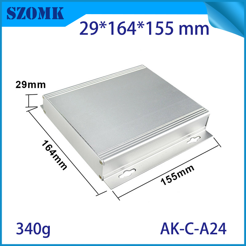 1 piece aluminum enclosure project case 29(H)x164(W)x155(L) mm for electronics case housing junction box instrument case szomk 1 piece free shipping szomk diy aluminium box electronic project case 32 h x139 w x155 l mm project box anodized aluminum