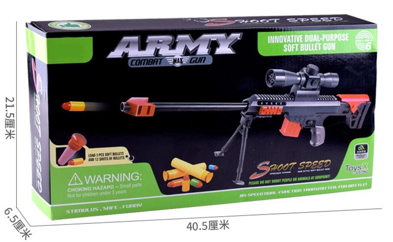 NEW Toy Gun Soft Bullet Military Sniper Kids Gift Sniper Weapon
