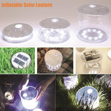 1000mAh Solar Power Inflatable Lantern Lamp LED Camping Hiking Outdoor Tent Light Outdoor Lighting lampe solaire jardin New