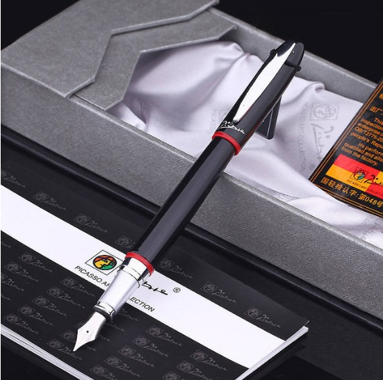 Picasso Fountain Ink Pen ,Golden Ink Pens ,0.5mm Nib,High-end Luxury Pen ,High Quality,Gift Packaging цена