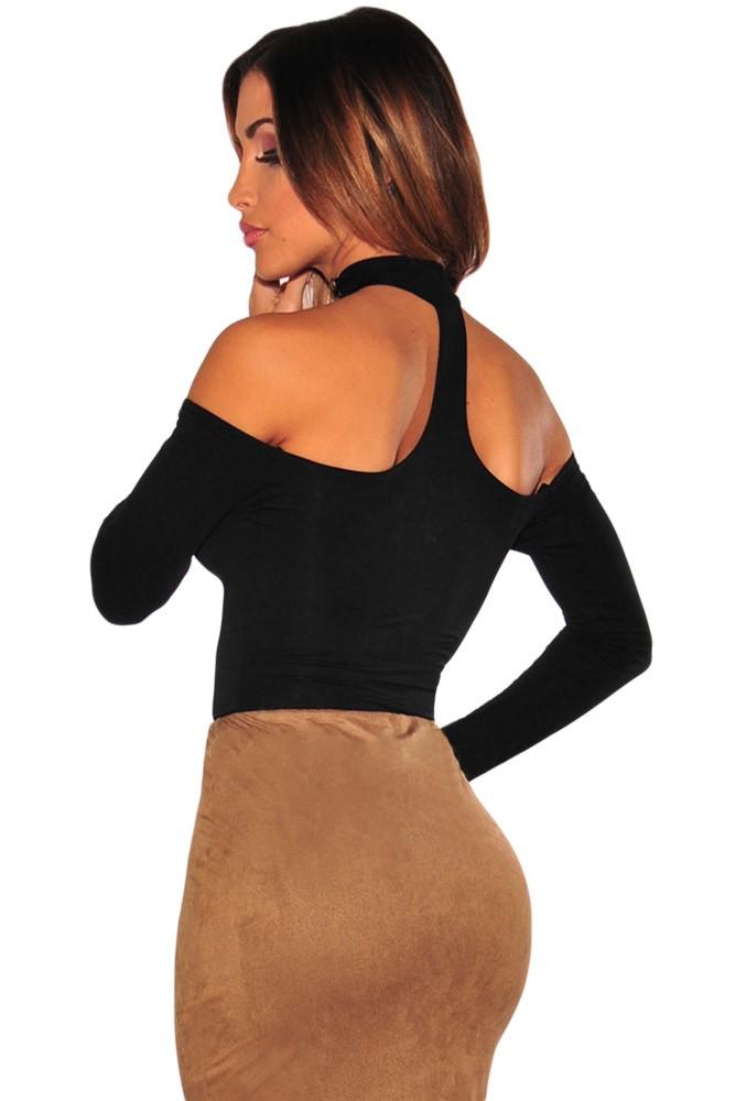 Black-Choker-Off-Shoulder-Bodysuit-LC32066-2-3