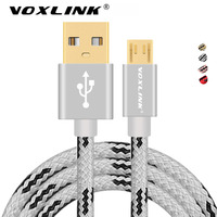 VOXLINK Micro USB Cable Fast Charger 5V2A 0 5m 1m 2m Nylon Braid Data Sync Charging
