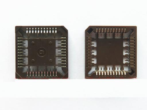 SMD IC Block 28P 32P 44P 52P 68P 84P PLCC44 PLCC28 PLCC32 PLCC52 PLCC68 PLCC84 Brown Seat 44 Core Chip SMD PLCC Socket 5pcs/lot