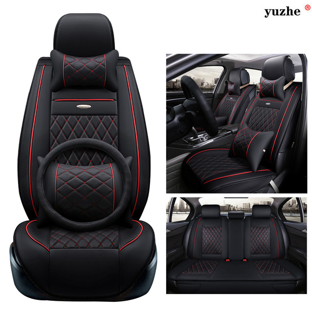 yuzhe housse de si ge de voiture en cuir pour citroen c3. Black Bedroom Furniture Sets. Home Design Ideas