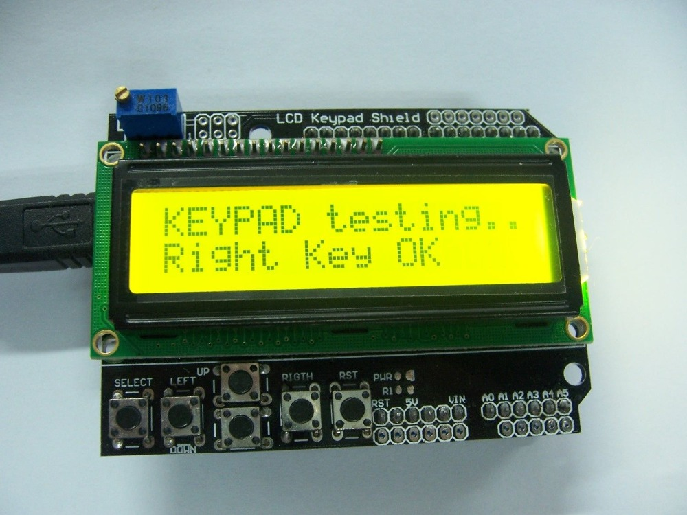 все цены на Yellow Backlight 1602 LCD Board Keypad Shield For Arduino LCD Duemilanove Robot