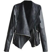 Pu Leather Jacket Women Fashion Bright Colors Black Motorcycle Coat Short Faux Leather Biker Jacket Soft Jacket Female недорого
