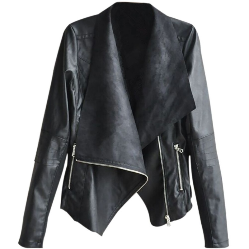 Pu   Leather   Jacket Women Fashion Bright Colors Black Motorcycle Coat Short Faux   Leather   Biker Jacket Soft Jacket Female