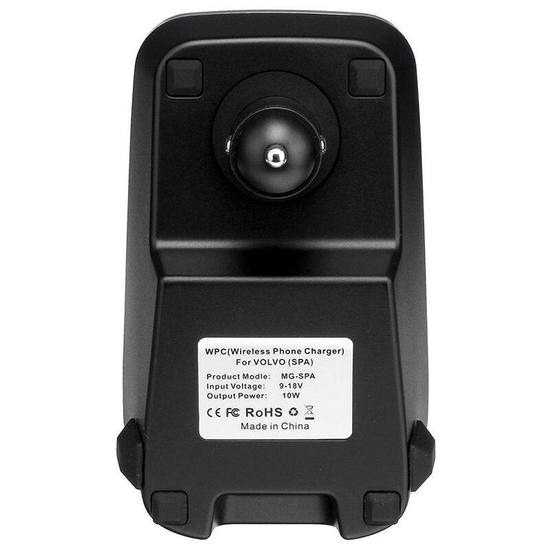 Carro qi carregador sem fio para volvo xc90 s60 xc60 s90 c60 v60 para o telefone móvel placa de carregamento - 5