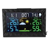 Gốc Alarm Clock Trạm Weather Clock Điện Tử Kỹ Thuật Số Nhiệt Độ Độ Ẩm Đo Clock Đa Chức Năng Với EU/US Cắm