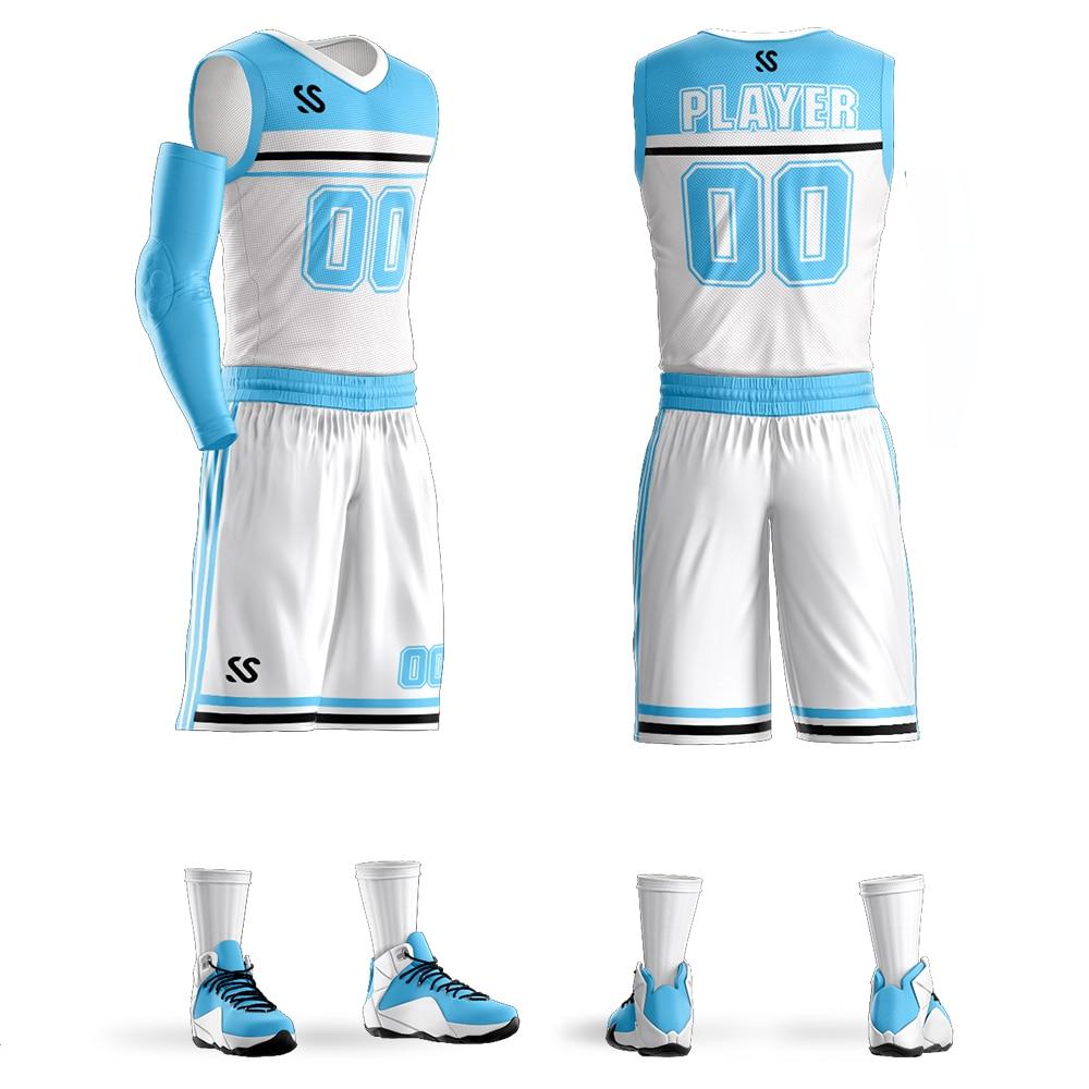 6f9f98578cf6 Custom Print College Blank Basketball Jerseys Men Youth Basketball Uniforms  Shirts Shorts Set Sport Clothing Breathable