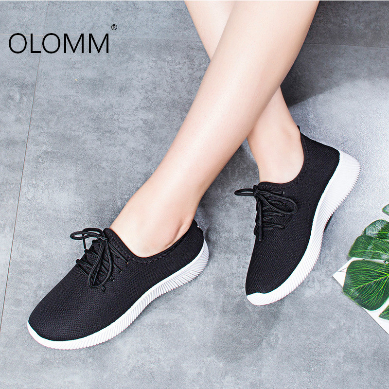 Summer New Mesh Shoes Mesh Female Casual Breathable Sports Shoes Zapatos De Mujer  Flat Shoes Women  Sneakers Women(China)