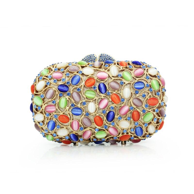 Luxe nouvelle arrivée coloré diamant femme d'embrayage sacs de mode délicat femme sacs à main sacs de soirée sacs à main (88192A-GB)