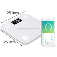 Smart Scale Electronic Weigher Bluetooth Body Fat Balance With Free APP BMI Monitor Body Composition Analyzer Large Display My29