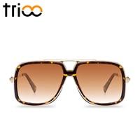 Square Sun Glasses For Men Woman Multicolor Temple Gafas De Sol Semi Rimless Gradient Lens Sunglass