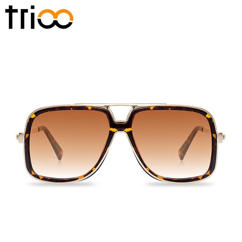 25cd18e20afa3 TRIOO Praça Designer de Marca Óculos De Sol Dos Homens Retro óculos de Sol  Masculinos de Grandes Dimensões Do Vintage Óculos de Armação UV400 Óculos de  ...