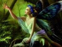 Butterfly Fairy Diy Art Decoration Paintings Cross Stitch Diamond Hand Made Full Diamond Souvenir Embroidery Bedroom