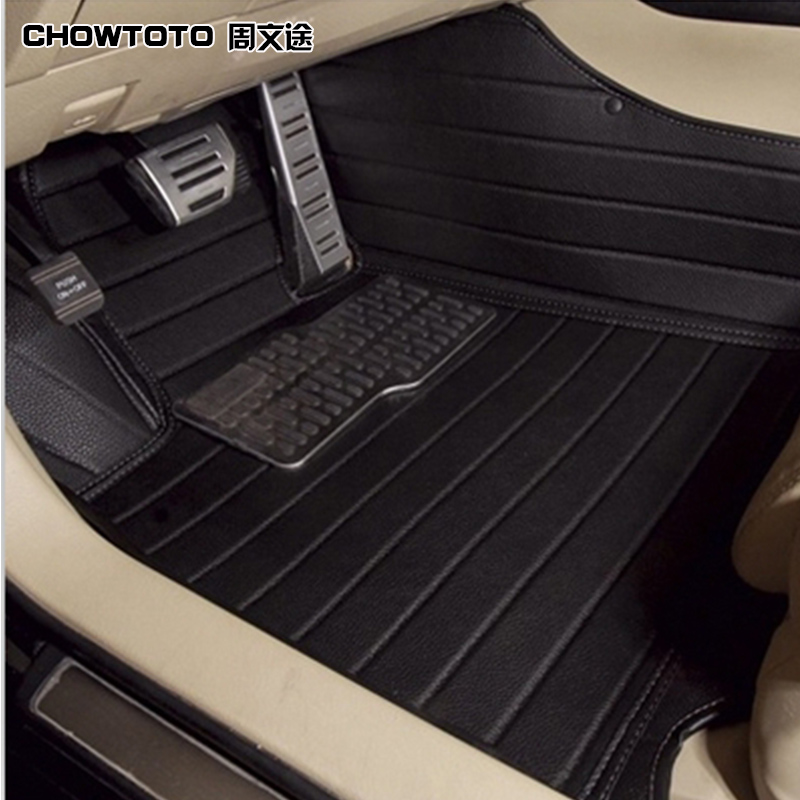 CHOWTOTO AA Custom Special Floor Mats For Hyundai Grand Santa Fe 7seats Waterproof Leather Carpets For Santafe XL