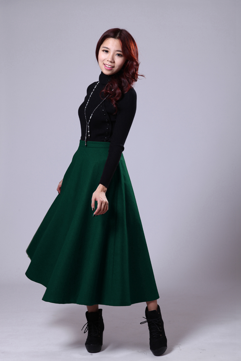 New Brand Fashion Elastic Waist Elegant Style Long Skirt 2015 Autumn Vestidos Women 39 S Bust