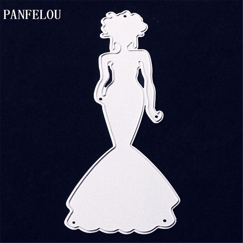 PANFELOU Metal craft Women dress die cutting dies for Scrapbooking ...