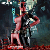 1/6 Full Set Female Deadpool 2.0 Lady Katana Action Figure With 3 Pairs Interhangable Eyes Sword Weapon Accessory for Fans Gift
