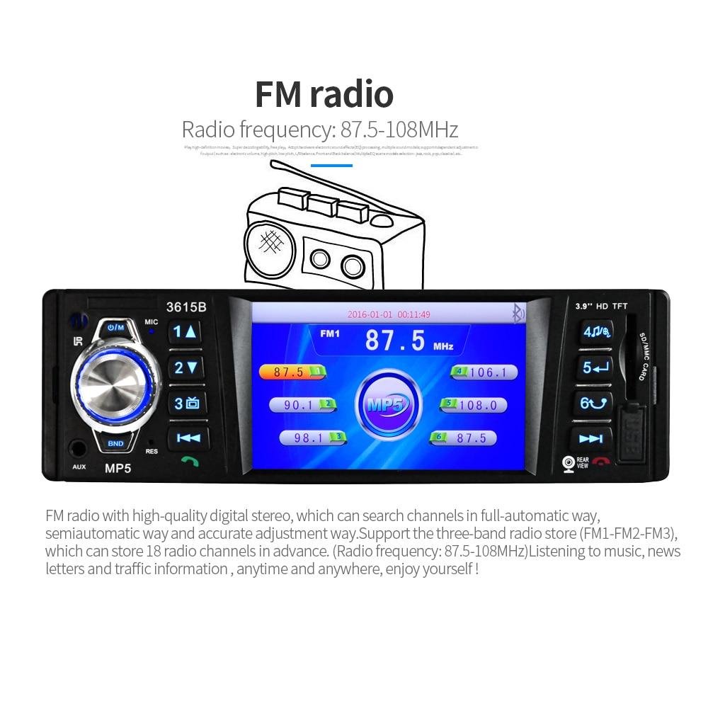 Car Radio MP5 Player Stereo Auto Audio 3.9 inch 1 Din FM Bluetooth 12v Support Rear View Camera USB FM MP4 USB SD TF Auto Radio
