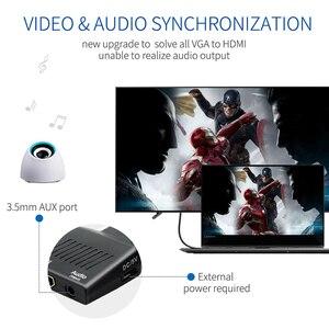 Image 2 - QGeeM VGA vers HDMI convertisseur adaptateur 1080P VGA HDMI adaptateur pour ordinateur portable vers HDTV projecteur vidéo Audio convertisseur