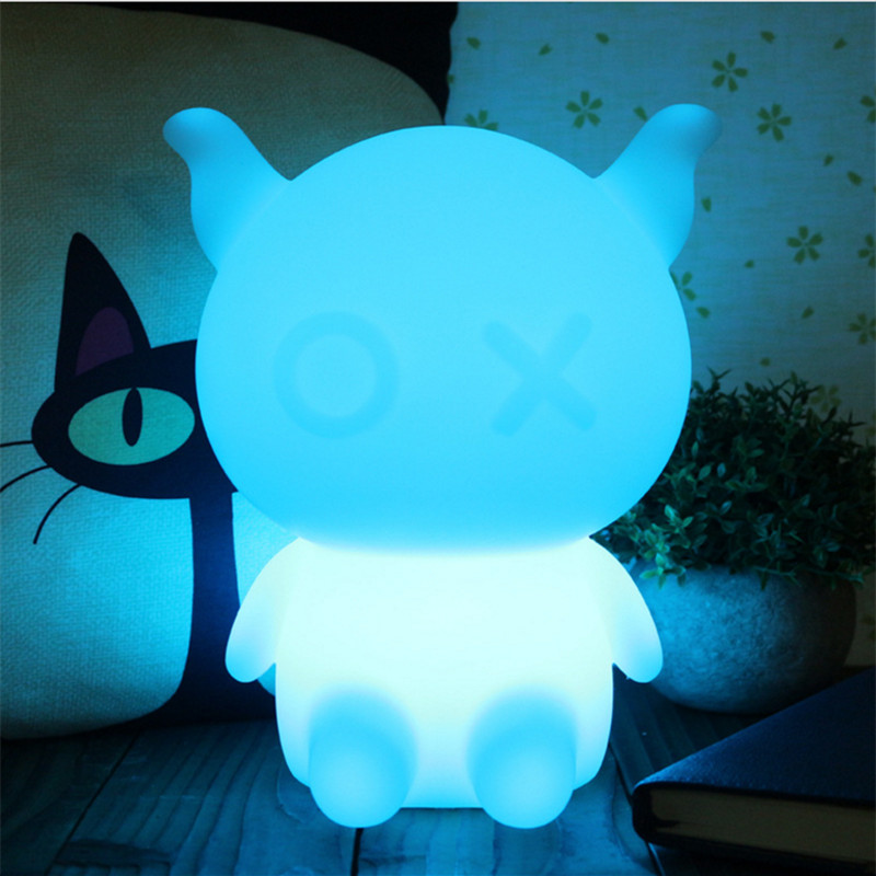 H23CM RGB Led Night Light USB for Children Baby Kids Gift Animal Cartoon Decorative Table Lamp Bedside Bedroom Living Room cartoon bees night light dc 5v usb rechargeable night lamps touch dimming led table lamp baby children gift bedside lamp