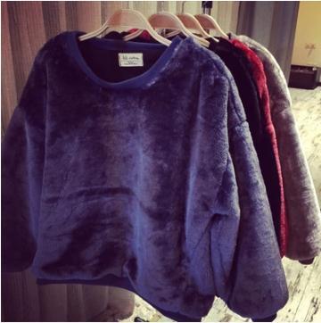 Осень и зима Южнокорейская звезда с платьем толстые Плюшевые одежда водолазка куртка свитер волосатый Плюшевые пальто