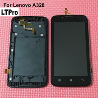 100 Guarantee NEW LCD Display Touch Panel Screen Digitizer Assembly With Frame For Lenovo A328 Phone